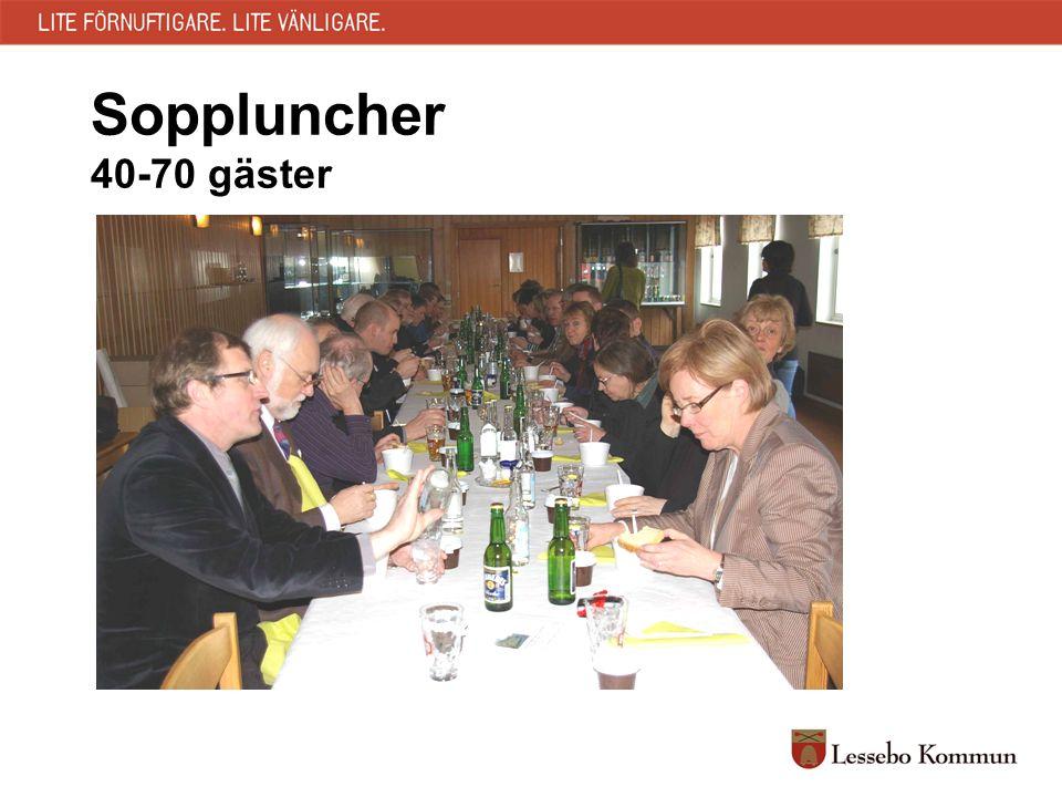 Soppluncher 40-70 gäster