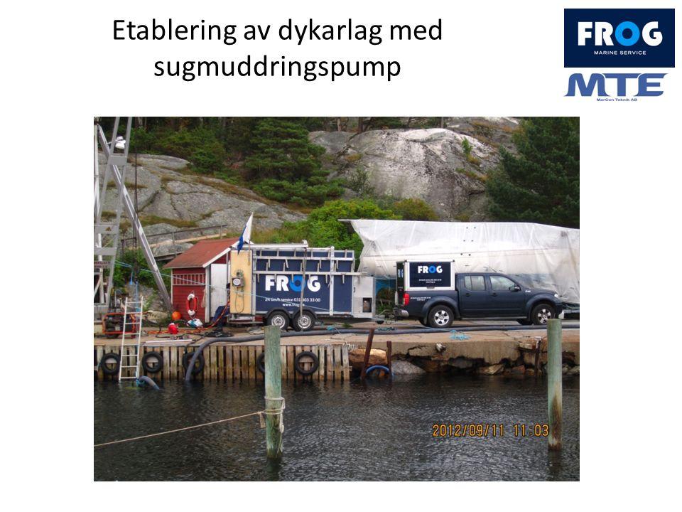 Etablering av dykarlag med sugmuddringspump