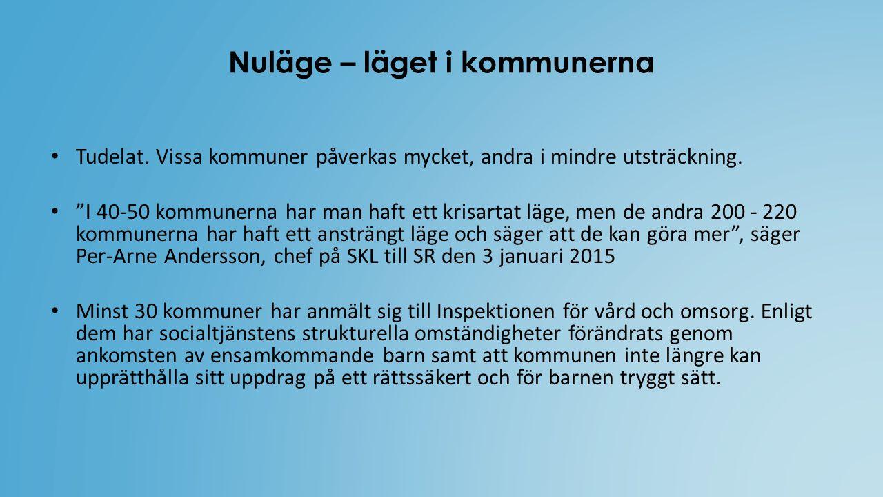 """Nuläge – läget i kommunerna Tudelat. Vissa kommuner påverkas mycket, andra i mindre utsträckning. """"I 40-50 kommunerna har man haft ett krisartat läge,"""