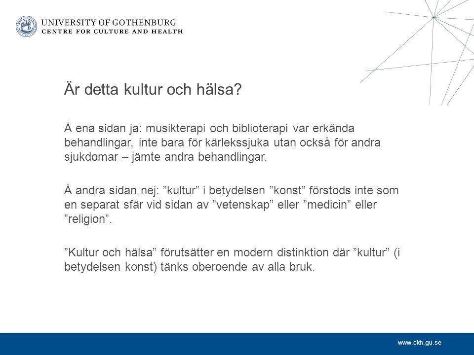 www.ckh.gu.se Vem bestämmer vad kultur är.