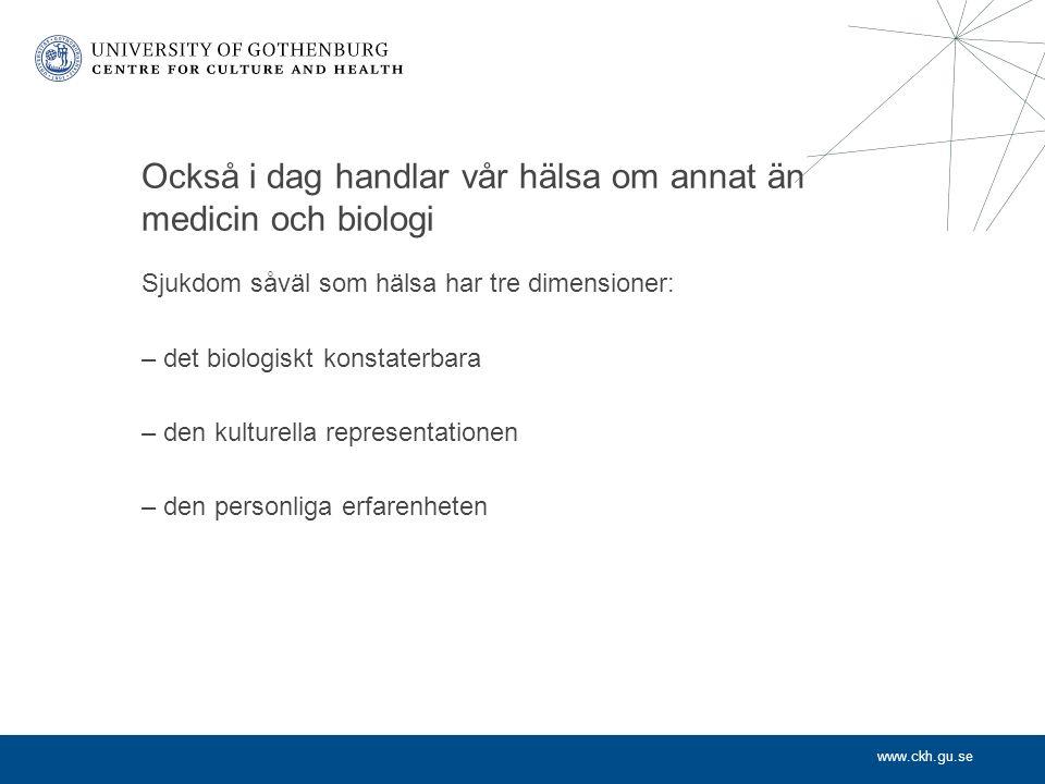 www.ckh.gu.se Kultur för äldre – i Göteborg Kulturmöten utan gränser – modeller för att skapa kvalitet i äldres vardag Fokus på mångfald och generationsmöten Film, litteratur, konst, med mera Metodutveckling och forskning om sambandet mellan kultur och hälsa
