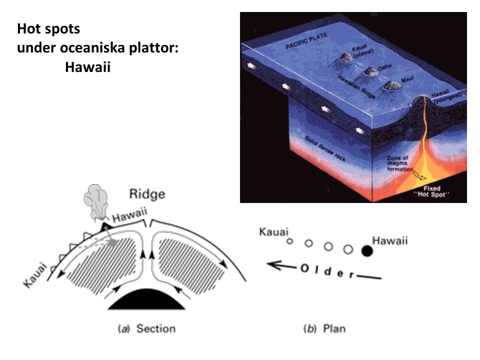 Hot spots under oceaniska plattor: Hawaii