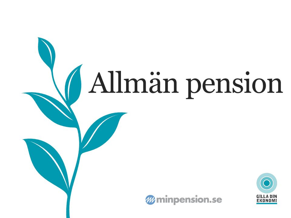 Allmän pension