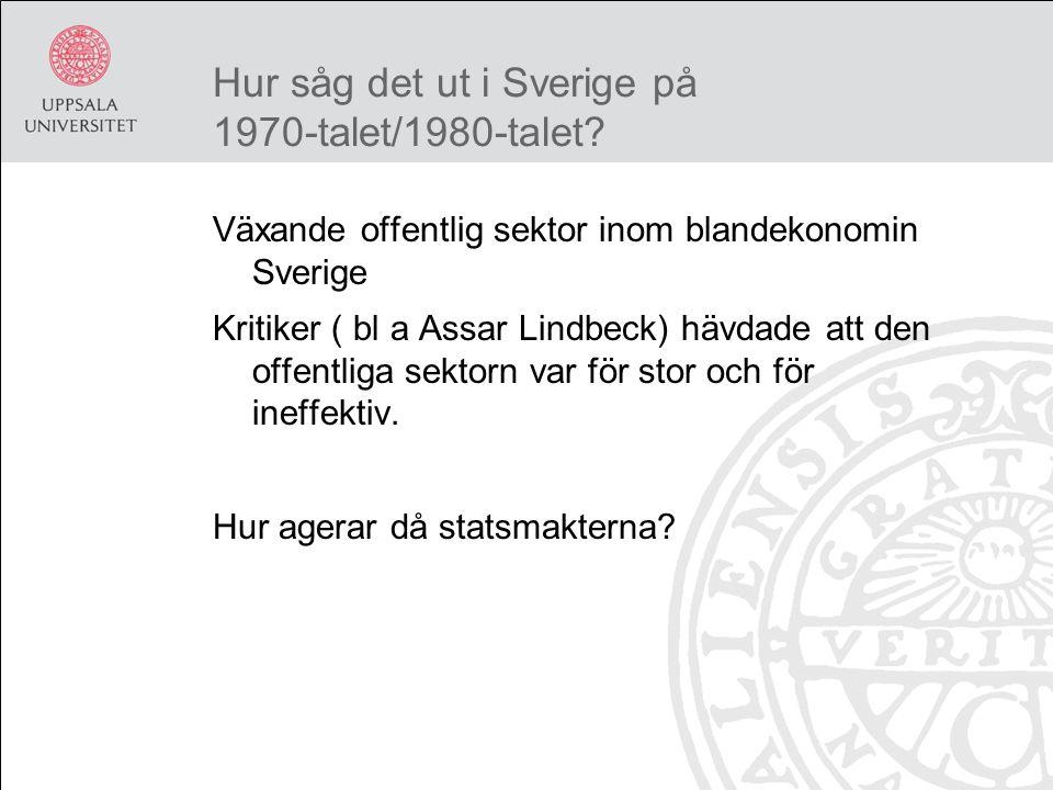 Hur såg det ut i Sverige på 1970-talet/1980-talet.