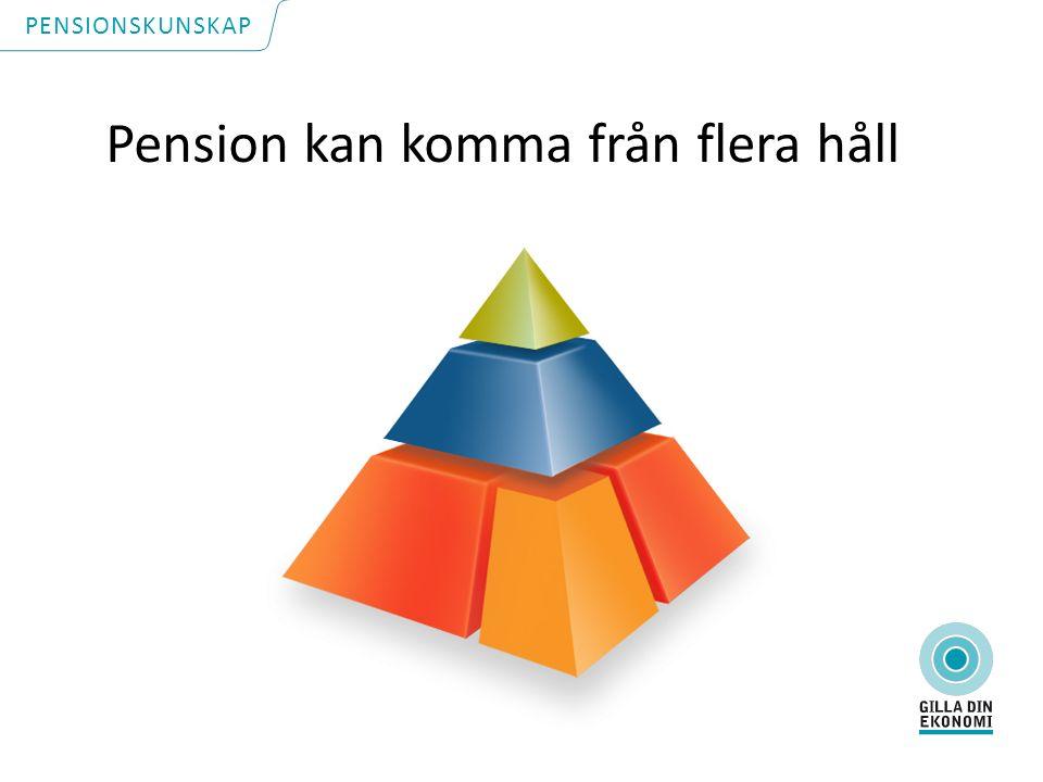 Pension kan komma från flera håll PENSIONSKUNSKAP