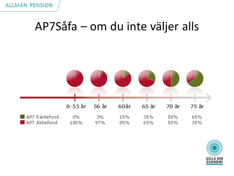 AP7Såfa – om du inte väljer alls ALLMÄN PENSION