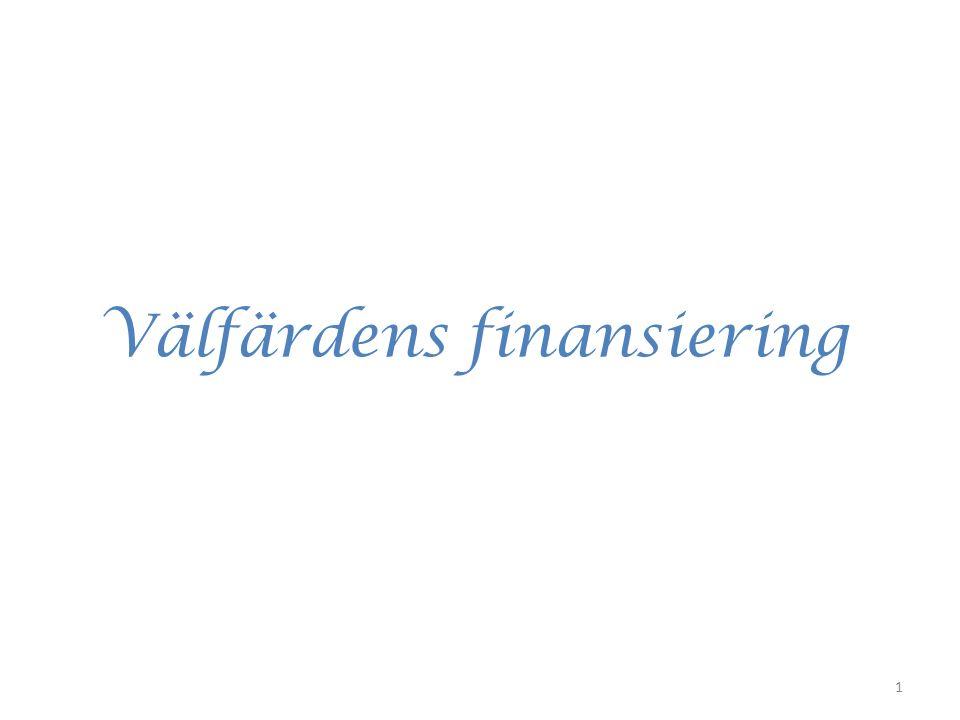 Välfärdens finansiering 1