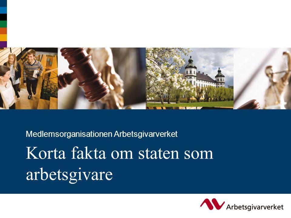 Korta fakta om staten som arbetsgivare Medlemsorganisationen Arbetsgivarverket