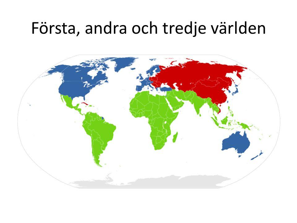 Första, andra och tredje världen