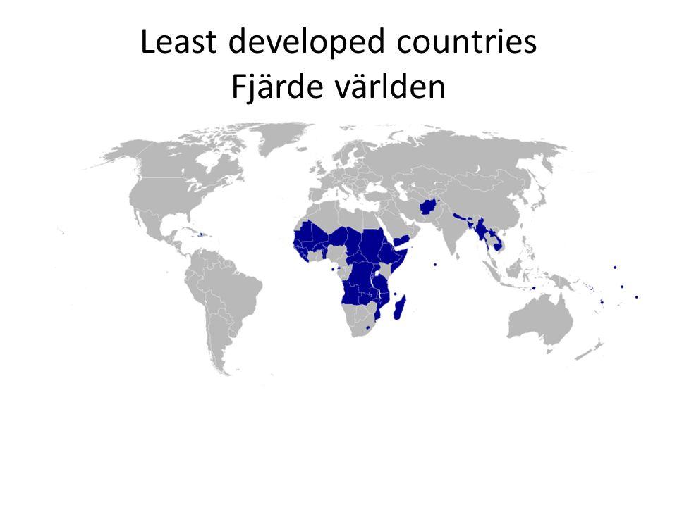 Globala mönster Organisationer Internationella utvecklingsorganisationer – International Under kontroll av stater (exempel) – UN, World Bank, IMF, European Development Fund (EUF) Icke-statliga (NGO, INGO) (exempel) – Röda korset, Läkare utan gränser, men även ILO, m.fl.