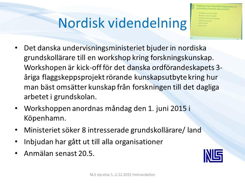 NLS STYRELSE 2.-3.12.2012 Göteborg