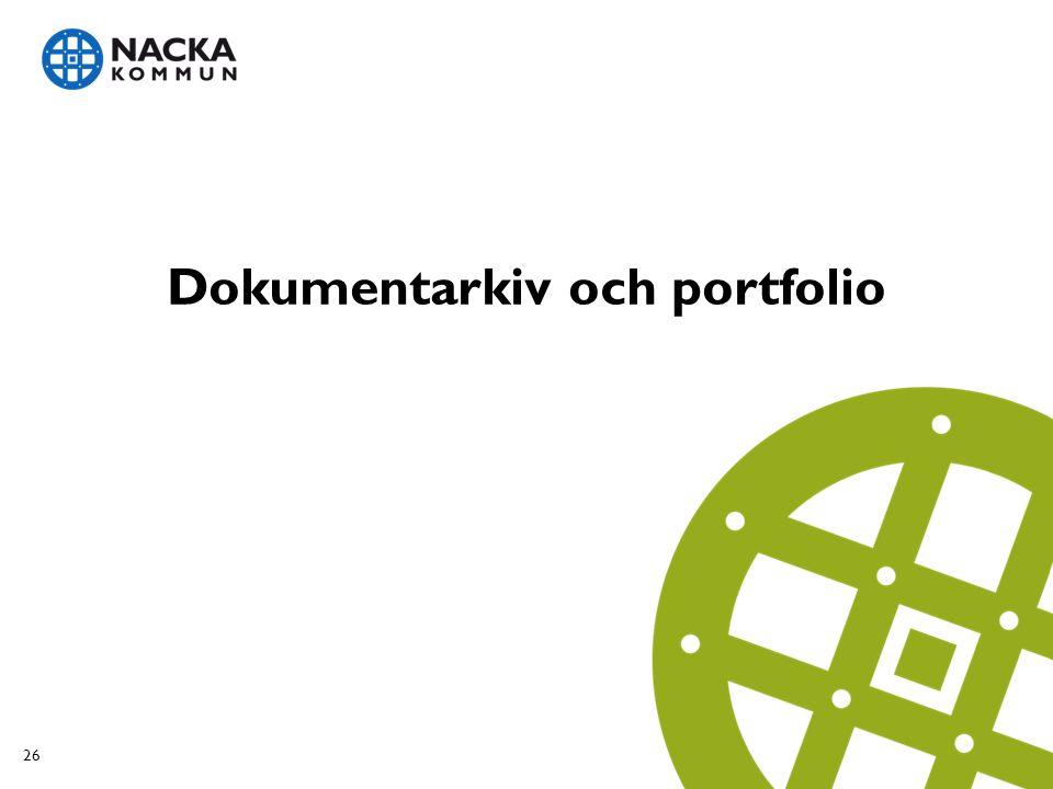 Dokumentarkiv och portfolio 26