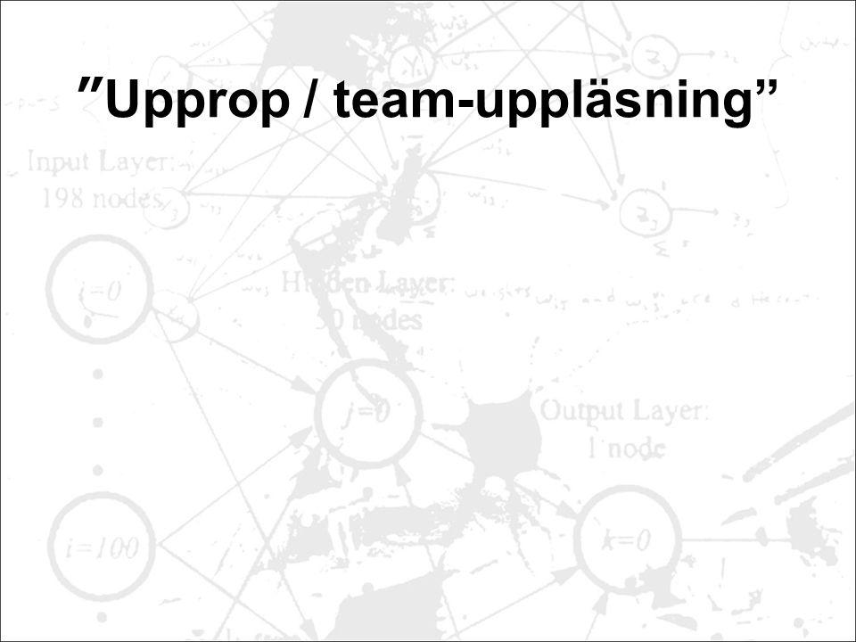 Upprop / team-uppläsning
