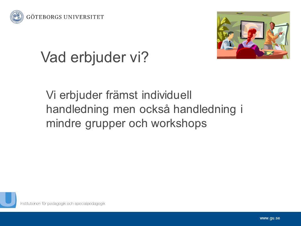 www.gu.se Vad erbjuder vi.