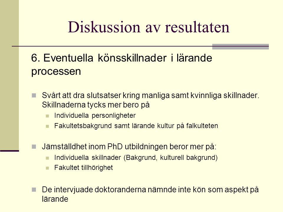Diskussion av resultaten 6.