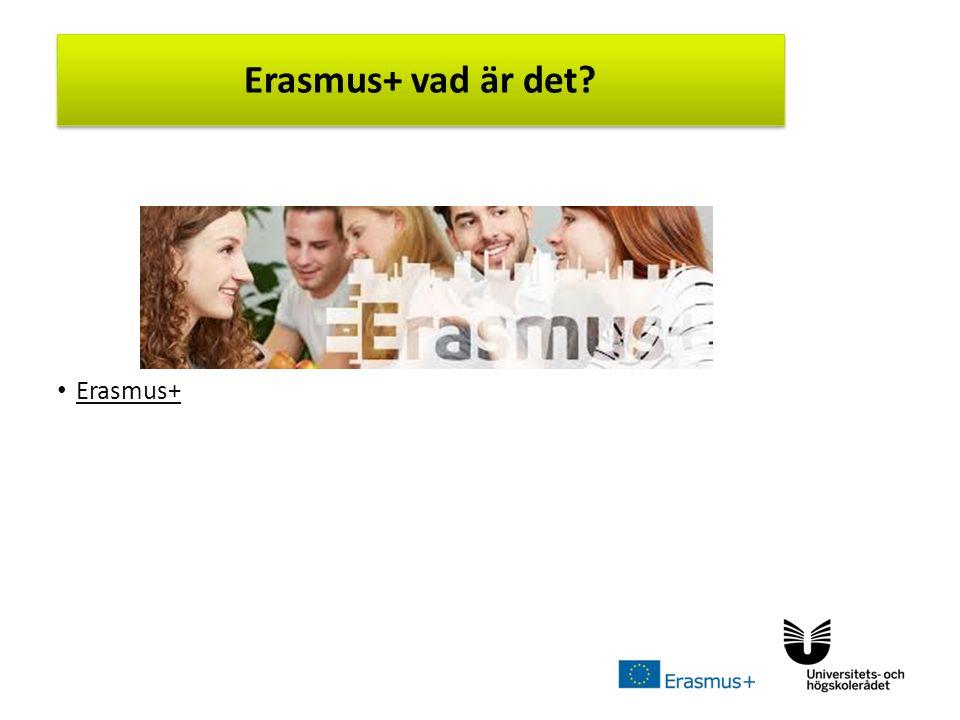 Sv Erasmus+ Erasmus+ vad är det