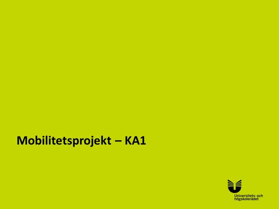 Sv Mobilitetsprojekt – KA1