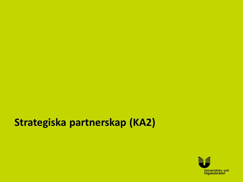 Sv Strategiska partnerskap (KA2)