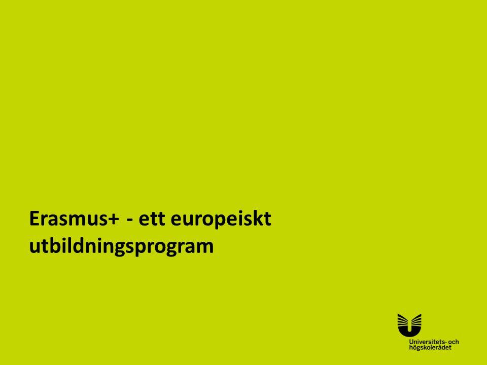 Sv Erasmus+- ett europeiskt utbildningsprogram