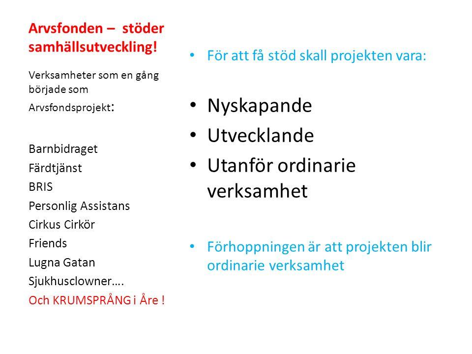 Ett samarbete mellan Studieförbundet Vuxenskolan Åre Åre kommun Kulturföreningen Nysnö & Fria kulturskapare