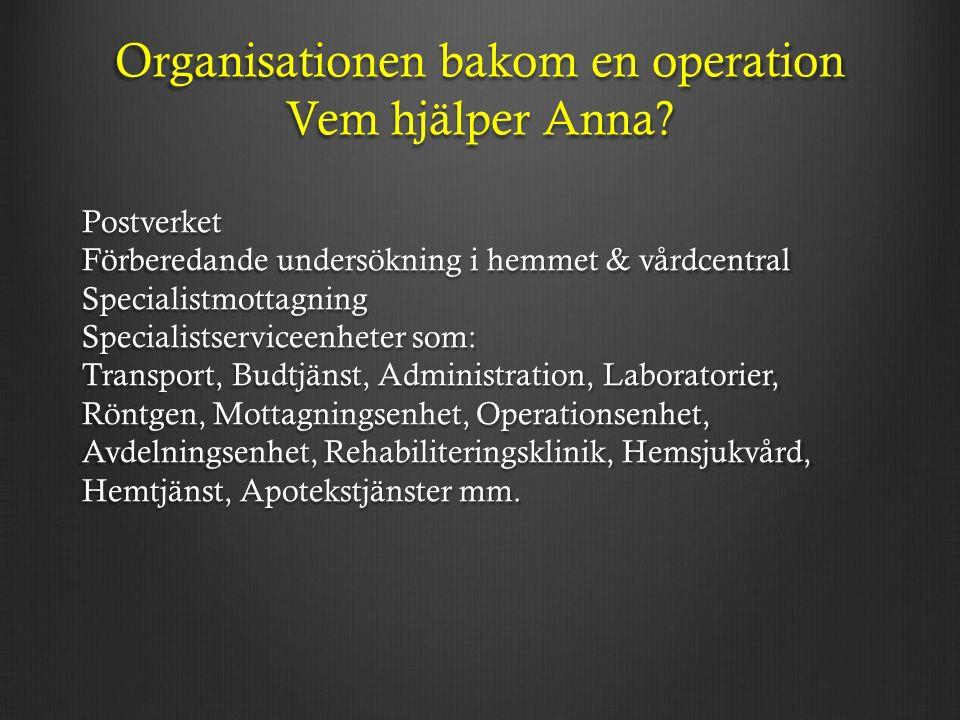 Organisationen bakom en operation Vem hjälper Anna.