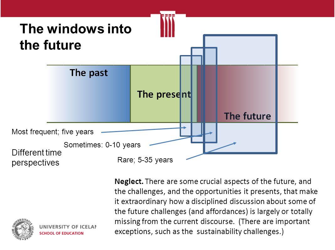 The windows into the future. Jón Torfi Jónasson NLS möde i Reykjavík 6.
