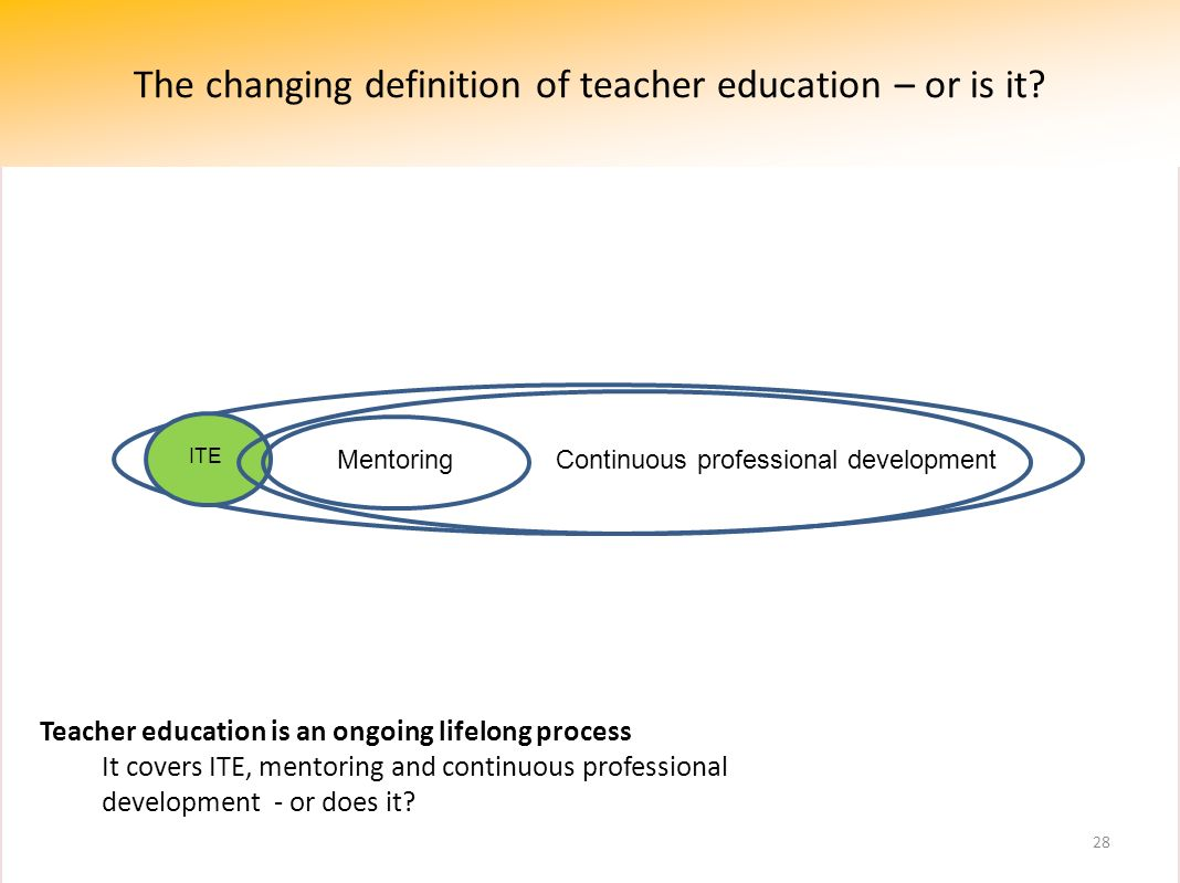 The changing definition of teacher education – or is it .