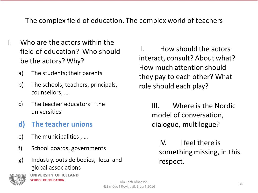 The complex field of education.The complex world of teachers.