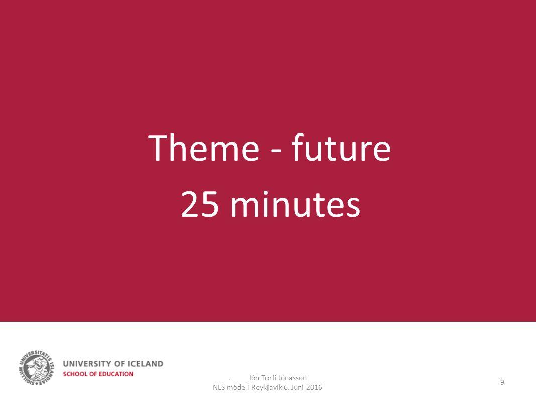 9 Theme - future 25 minutes