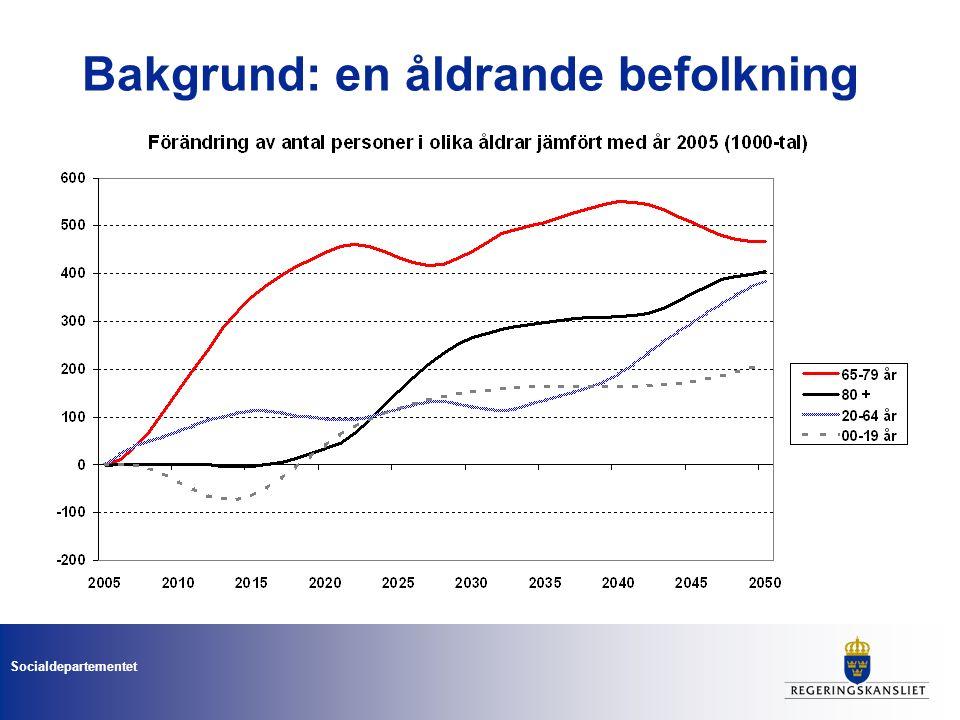 Socialdepartementet Bakgrund: en åldrande befolkning
