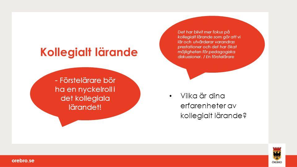 orebro.se Summering och avstamp inför nätverksträff 2 Dagens syfte Diskussion om organisationen, formerna och innehållet för det gemensamma lärandet.