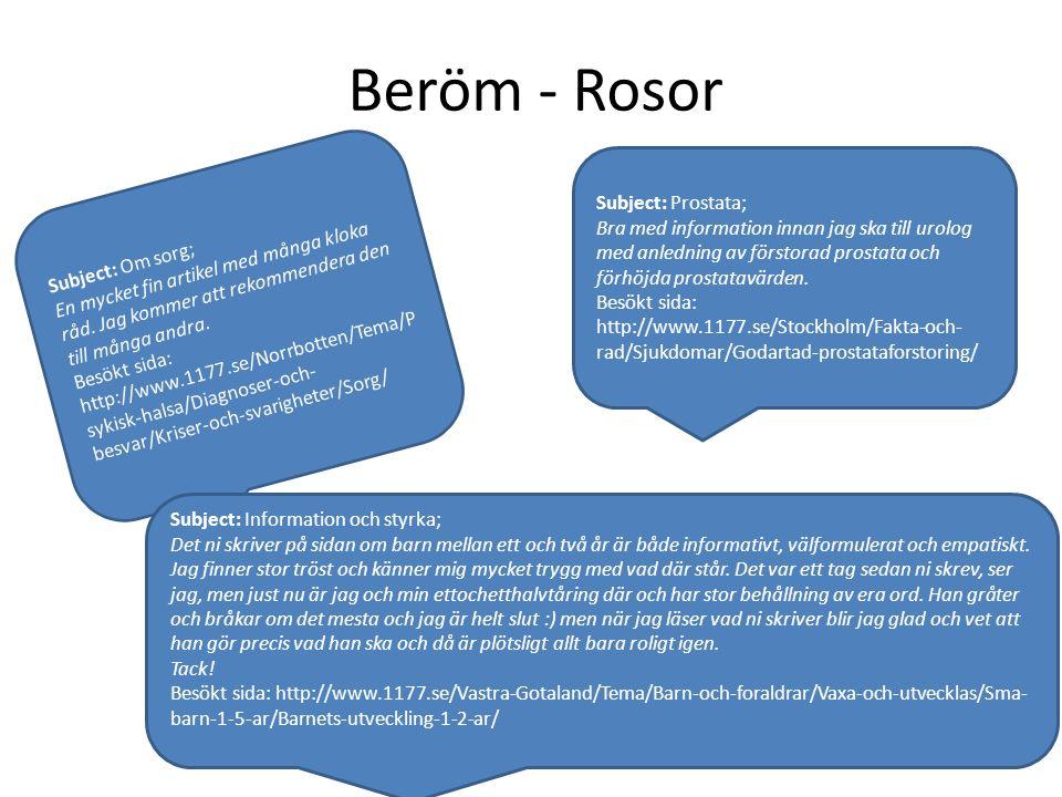 Beröm - Rosor Subject: Om sorg; En mycket fin artikel med många kloka råd.