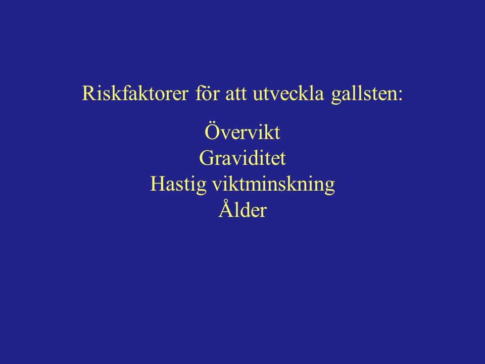 Gallgångsskador vid operation för gallsten: O,5-1,5% av galloperationer Ca 50/år i Sverige En gallgångsskada leder till förkortad förväntat livstid.