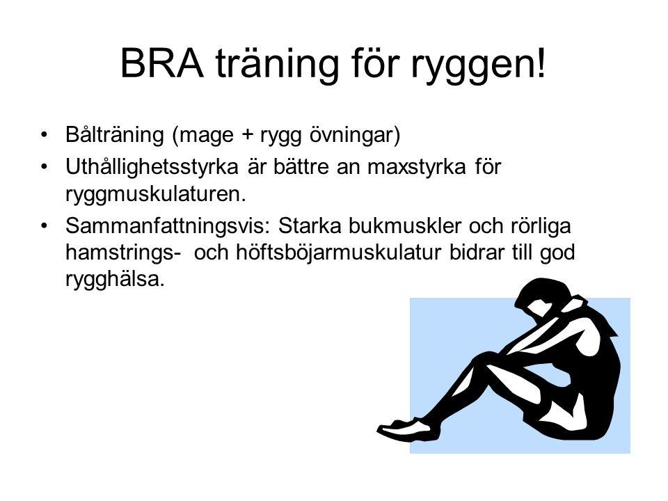 BRA träning för ryggen.
