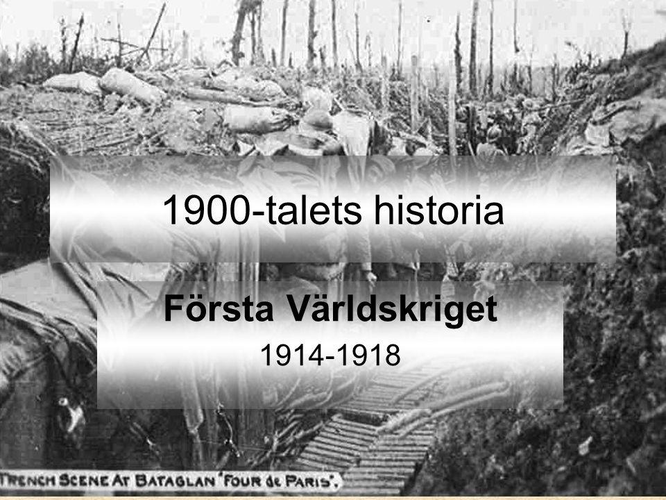 Varför läser vi om Första världskriget.