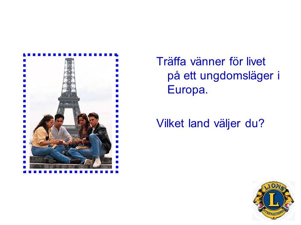 Träffa vänner för livet på ett ungdomsläger i Europa. Vilket land väljer du