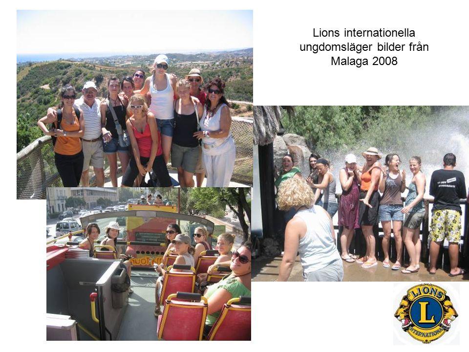 Lions internationella ungdomsläger bilder från Malaga 2008