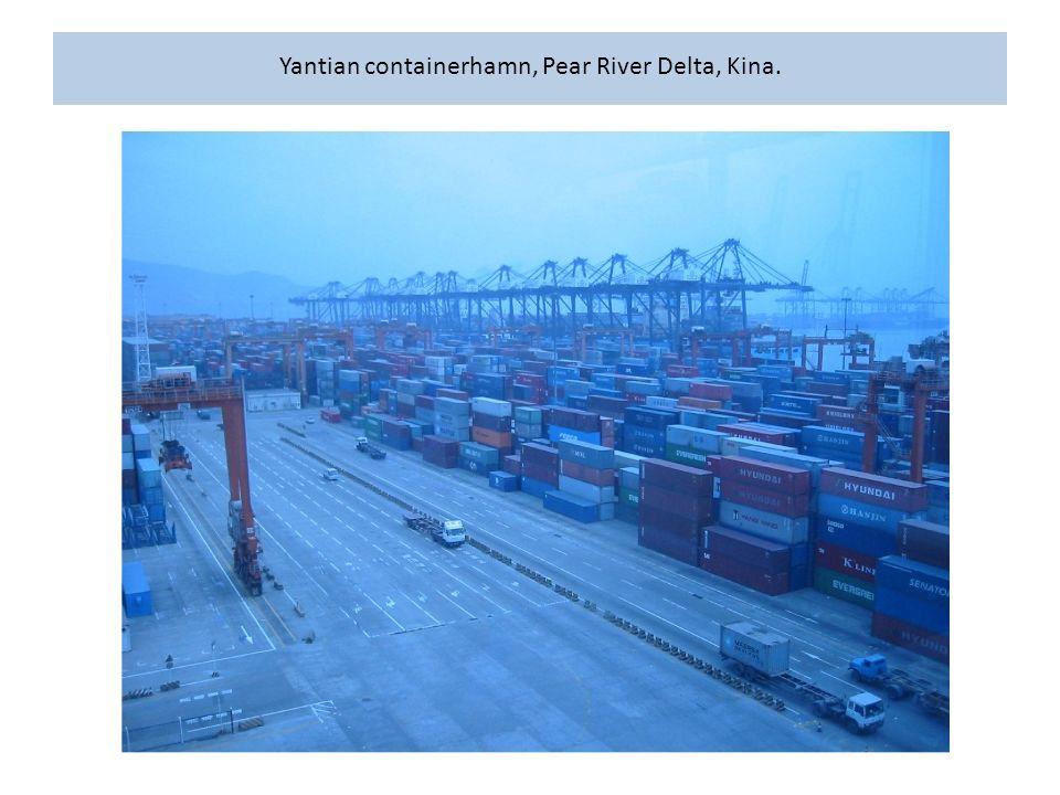 Yantian containerhamn, Pear River Delta, Kina.