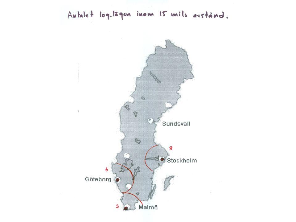 Förändringar i logistik och distribution i ett svenskt perspektiv: infrastrukturinvesteringar, flaskhalsar, handel/transporter Storabält bron (järnväg och väg).