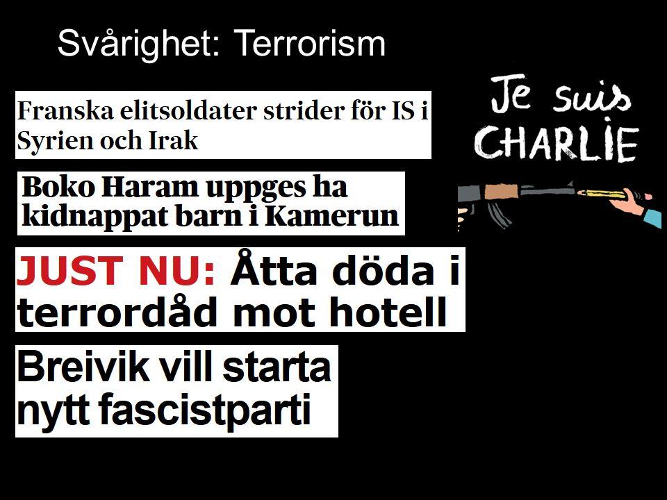 Svårighet: Terrorism