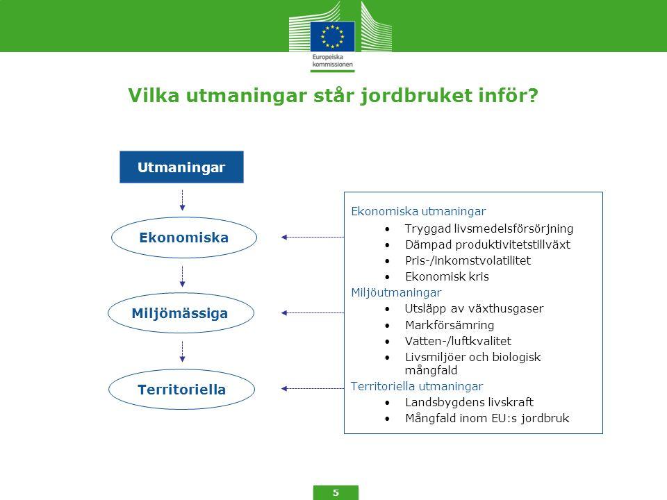 Ny utformning av direktstöd 6 Tvärvillkor Effektivisering Ordning för grundstöd Frivilligt omfördelningsstöd (+ max.