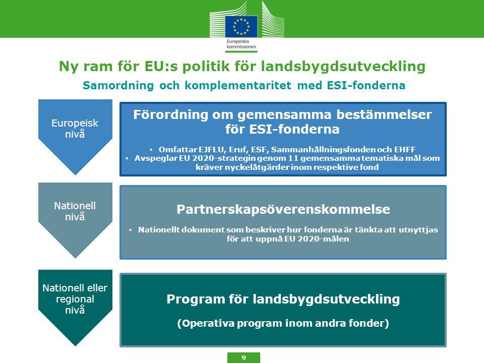 6.Unionens prioriteringar för landsbygdsutveckling 10 6.