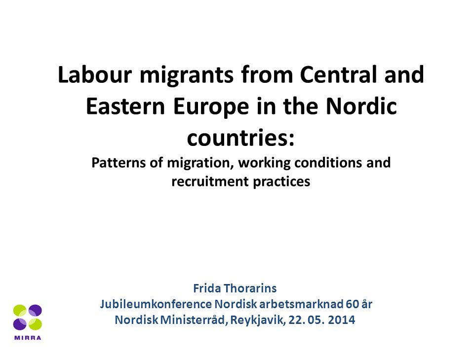 Andel av dom som har upplevt olika typer av olagliga arbetsförhållanden i de tre nordiska huvudstäderna