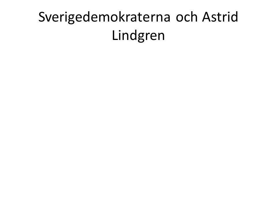 Sverigedemokraterna och Astrid Lindgren
