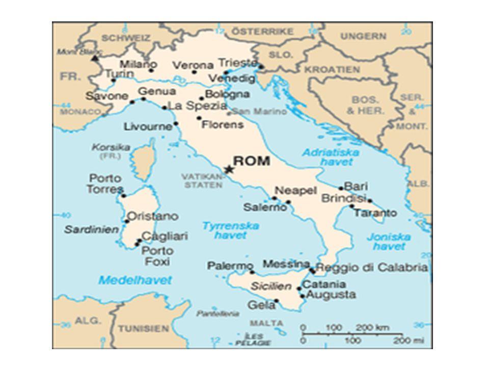 Olika folk i Italien På den italienska halvön bodde många olika människor – de talade olika språk Latinarna bodde i Rom och på landet runt staden - talade latin = romare Norr om Rom bodde etruskerna I södra Italien och på ön Sicilien bodde greker Romarna anföll sina grannar och tillslut besegrades etruskerna och grekiska städer Romarna hade nu makten över hela Italien