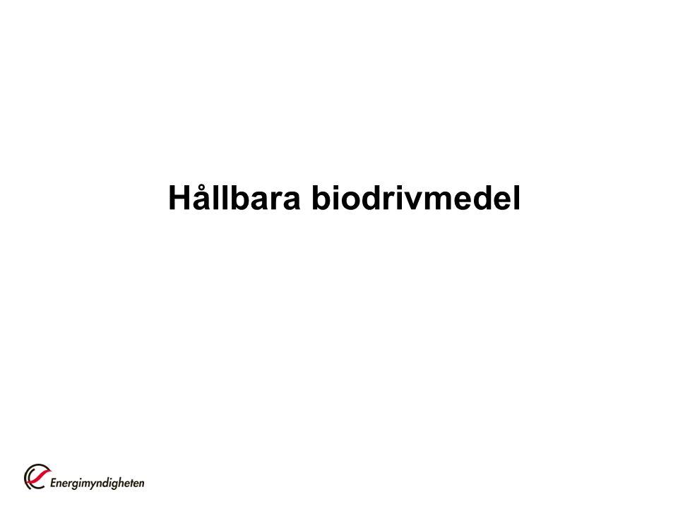 Hållbara biodrivmedel