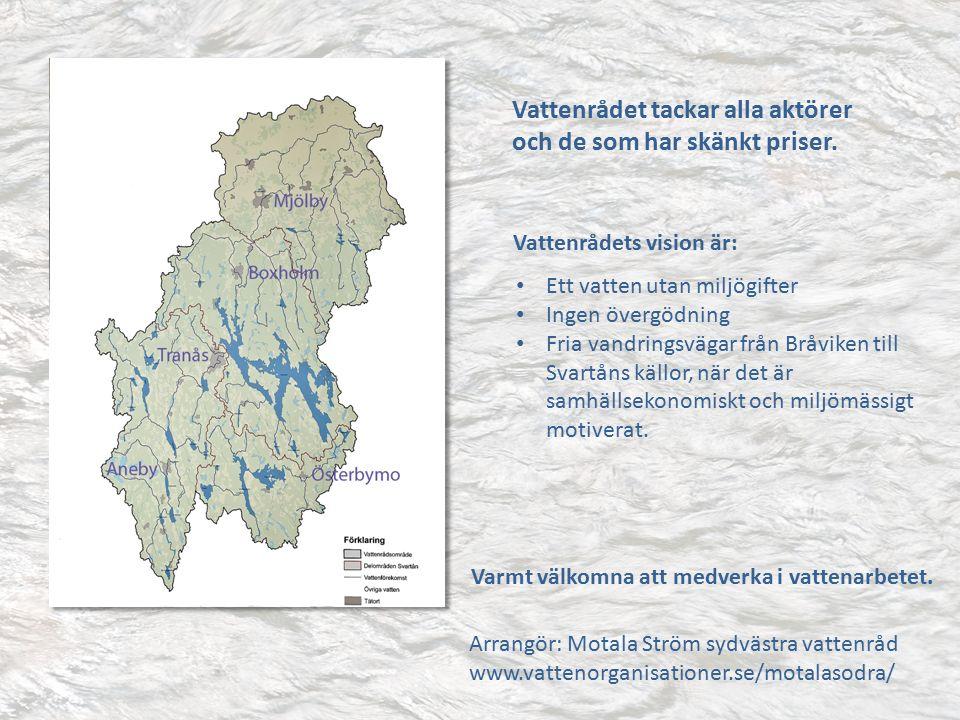 Vattenrådet tackar alla aktörer och de som har skänkt priser.
