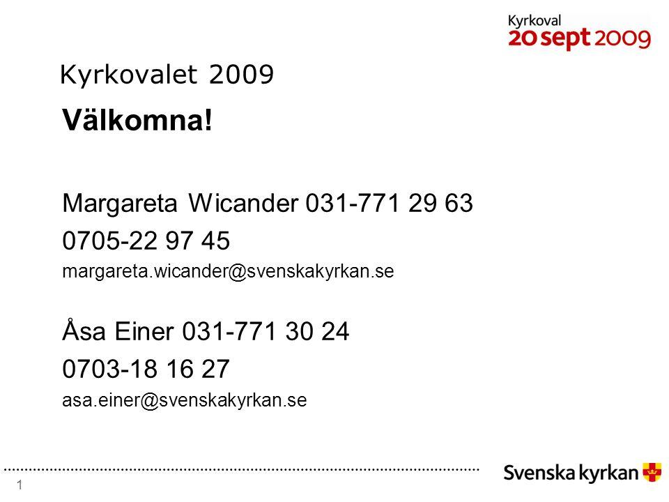 1 Kyrkovalet 2009 Välkomna.