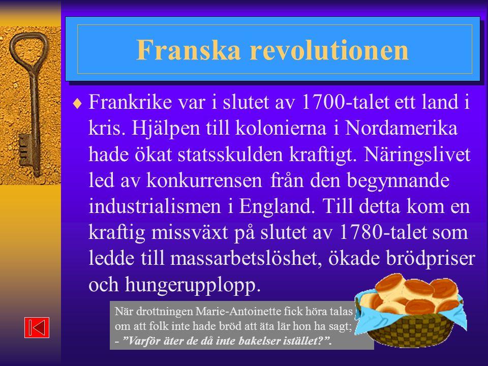 När drottningen Marie-Antoinette fick höra talas om att folk inte hade bröd att äta lär hon ha sagt; - Varför äter de då inte bakelser istället? .