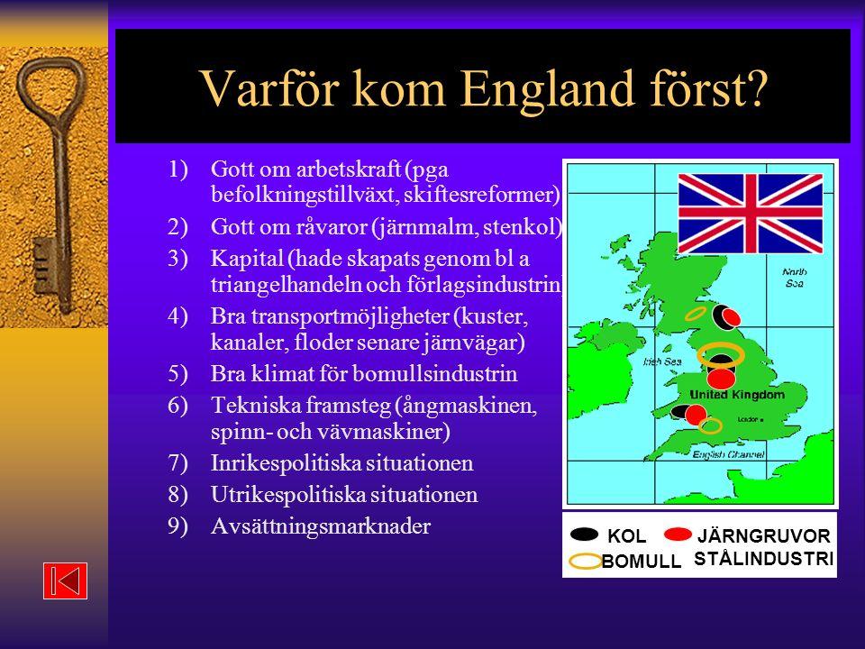 Varför kom England först.